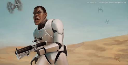 Star Wars 7 - Finn by AlexandreLeoniART