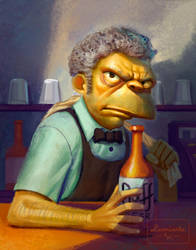 Simpsons - Moe by AlexandreLeoniART