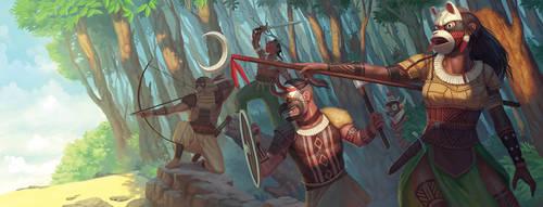 Vikings + Indians + Ninja + Fantasy by AlexandreLeoniART