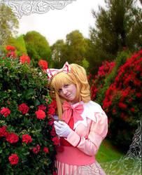 Elizabeth in the garden by BeyondBlackMountains