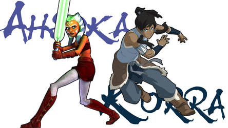 Avatar and Jedi, with borders by GryphonMane
