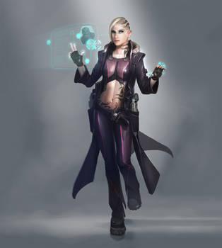 Cyberpunk girl by PascaldeJong