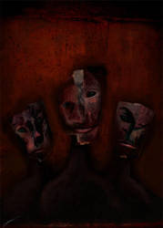 Of Masks by larkie