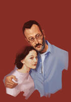 Natalie Portman and Jean Reno. by h0an
