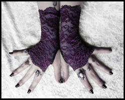 Lomion Lace Fingerless Gloves by ZenAndCoffee