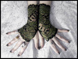 Aibreann Lace Fingerless Gloves by ZenAndCoffee