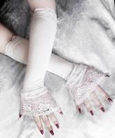 Elsa Victorian Cuff Arm Warmers by ZenAndCoffee