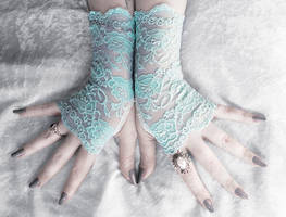 Tifara Lace Fingerless Gloves by ZenAndCoffee