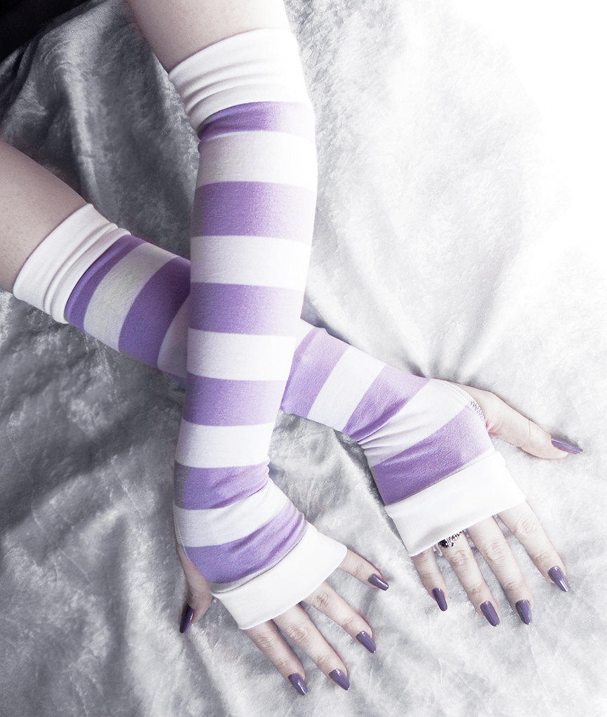 Thoughts of Allium Arm Warmers by ZenAndCoffee