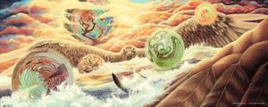 Across These Fantastical Worlds by cmloweart