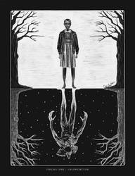 Stranger Things scratchboard by cmloweart