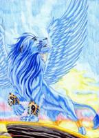 Ice-Pride of the Lion by Bilashakala