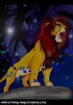 Simba Roars by Bilashakala