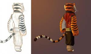 Tigress - Back View - start to finish by Graystripe64