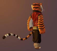 Tigress -- Back View by Graystripe64