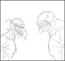 Carnage vs Venom by Anny-D