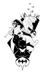 Batman Group digital ink by Anny-D
