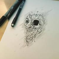 skull face design by Anny-D