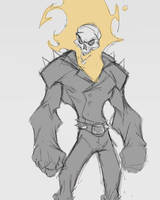 ghost rider sketch by Anny-D