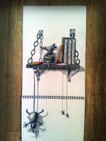 Bookshelf rats by RamonBruin