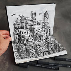 City on paper by RamonBruin