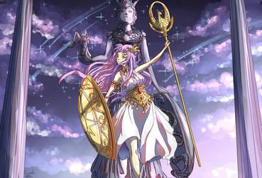 Saori Kido/Athena (Saint Seiya) by Cyraelh