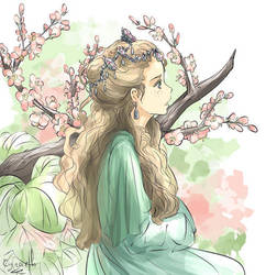 Celtic princess by Cyraelh