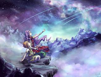 Mu and Kiki (fanart Saint Seiya) by Cyraelh