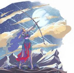 Chinese archer by Cyraelh