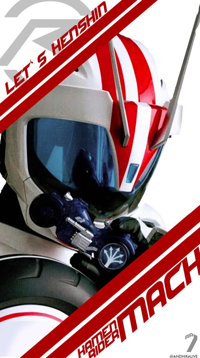 Kamen Rider Mach Ii Android Wallpaper By Andhikalive On Deviantart
