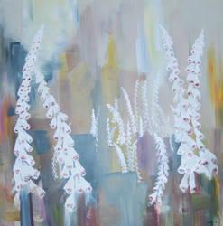 white foxgloves by EliseOtterlei