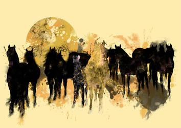 Horses by EliseOtterlei