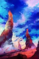 Red Lands of Pilaris by Byassu
