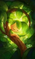 Sleeping Leafie by yangtianli