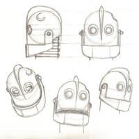 Iron Giant head sketches by PixarVixen