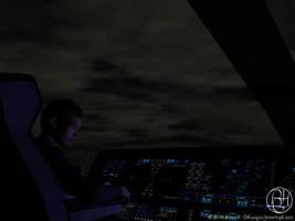 Night Flight by Norski