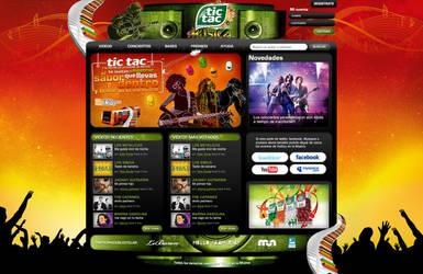 tictac en la musica webdesign by diego64