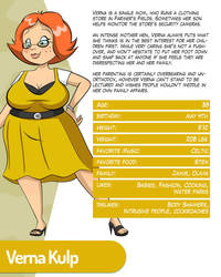Character Profile - Verna Kulp by monkeycheesedrawing