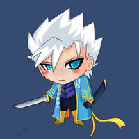 chibi vergil: stay back scum by veggwhale