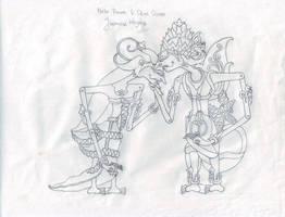 Prabu Rama and Dewi Shinta Sketch by faqeeh