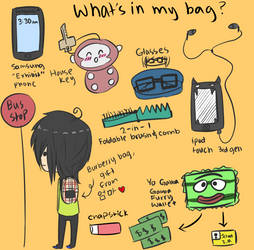 WHAT'S IN MY BAG MEME by kimchibeast