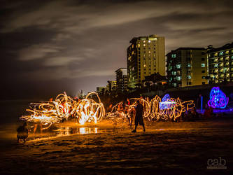 Fire Jam on Ormond Beach by cabridges