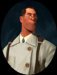 Medic Portrait by Py-Bun