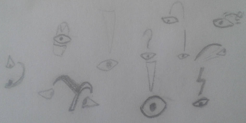 Exclamation eyes - a creature idea (?) by kRx1203