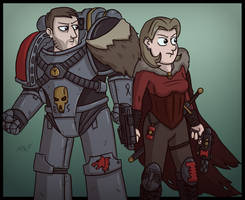 A Wolf and an Inquisitor by wibblethefish