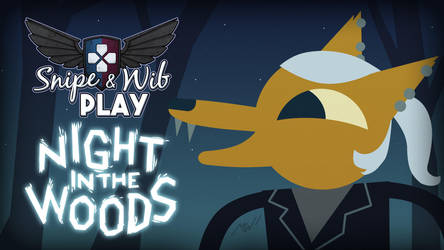 Night in the Woods Title Card by wibblethefish