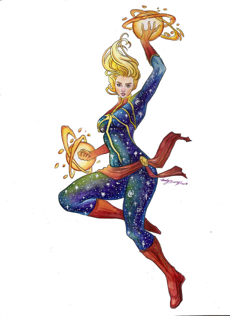 Galaxy Captain Marvel colored by Lovely-Bacar