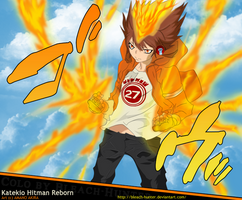 KHR Tsuna hyper mode by bleach-hunter