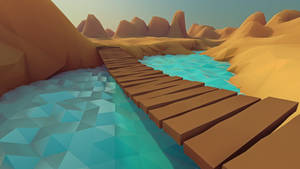 Low poly - Bridge by Pieter12