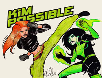Kim Possible vs Shego by quiqueperezsoler
